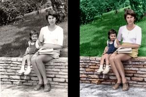 Régi fénykép restaurálása_feketefehér kép színesre